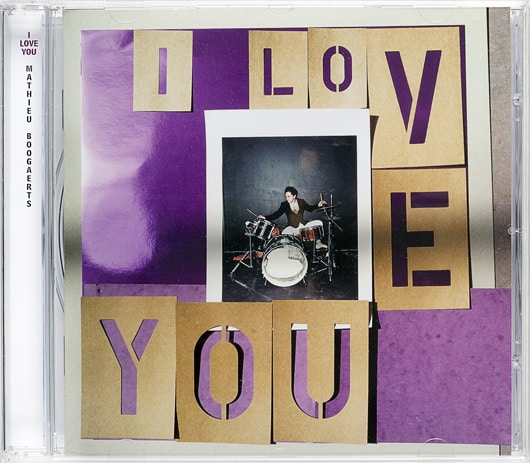 Pochette album I love you Mathieu Boogaerts