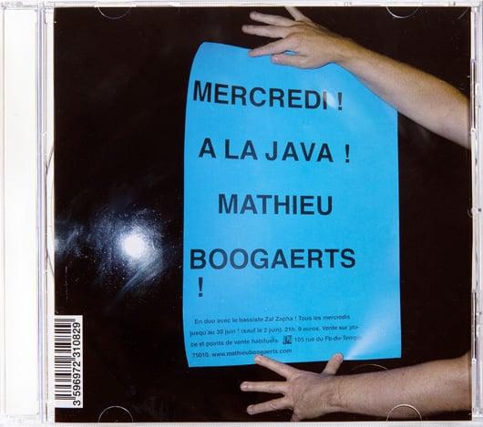 Pochette album mercredi à la Java Mathieu Boogaerts