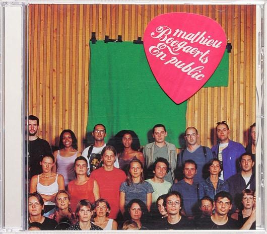 Pochette album en public Mathieu Boogaerts