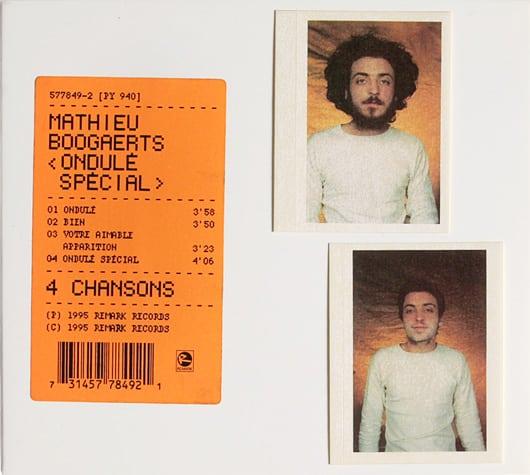Pochette album Ondulé spécial Mathieu Boogaerts