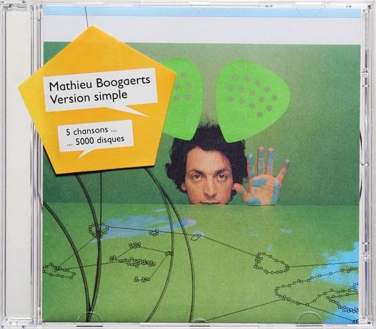 Pochette album version simple Mathieu Boogaerts