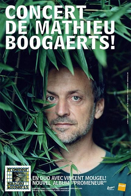 Affiche concert Promeneur Mathieu Boogaerts