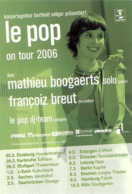 Mathieu Boogaerts en concert (en Allemagne)