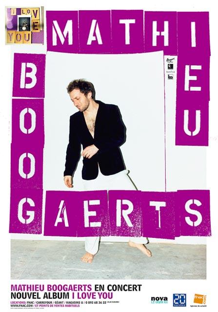 Mathieu Boogaerts en concert (i love you)